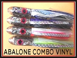 ABALONE W/DOUBLE VINYL SKIRT COMBO 4 LURES
