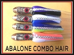 ABALONE BULLET COMBO W/HAIR SKIRTS 4 LURES